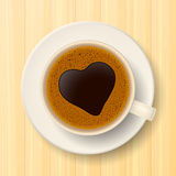 Coffee cup on saucer Royalty Free Stock Image
