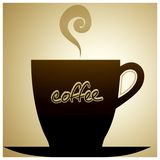 Coffee Cup And Saucer. Illustration stock photos