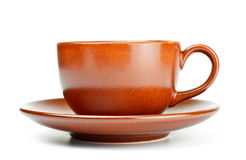 Coffee cup with saucer Royalty Free Stock Image