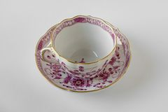 Coffee cup and saucer, Meissen Porcelain stock image