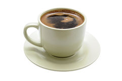 Coffee cup with saucer Royalty Free Stock Photos