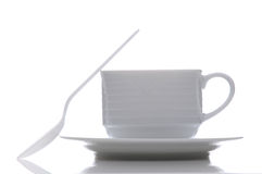 Coffee Cup saucer and Spoon Stock Photography