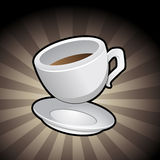 Coffee Cup and Saucer Stock Photography