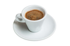 Coffee cup and saucer on a white background Stock Photos