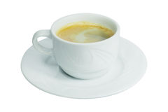 Coffee cup and saucer Royalty Free Stock Photos