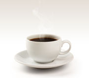 Coffee cup and saucer on a white background (clipp. Coffee menu design-related jobs and can be used in the photo studio Stock Image