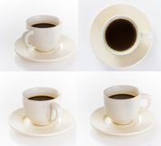 Coffee cup and saucer on white background. Stock Images