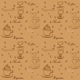 Coffee cup seamless. Background monochrome Royalty Free Stock Photo