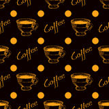 Coffee cup seamless background Stock Images