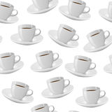 Coffee cup seamless pattern Royalty Free Stock Image