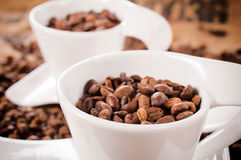 Coffee in cup Stock Images