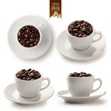 Coffee cup set with clipping path - 2 Stock Photos