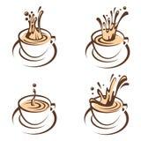 Coffee cup set Stock Photos