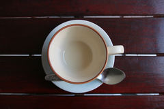 Coffee cup set. These are the empty coffee cup set on the table Stock Photography