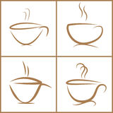 Coffee cup set. Stock Photo