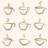 Coffee cup set. Royalty Free Stock Photography