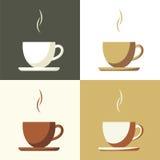 Coffee cup set  icon Stock Photos