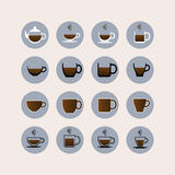 Coffee cup set.Tea cup. Royalty Free Stock Photos