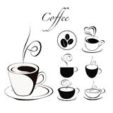 Coffee cup set. Royalty Free Stock Image