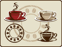 Coffee Cup Set Stock Image