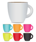 Coffee Cup Set  on White Background. Photo Stock Images
