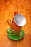 Coffee cup set Royalty Free Stock Photos
