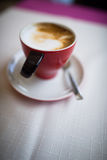Coffee cup shallow dof. Coffee cup on a table shallow dof Stock Photos