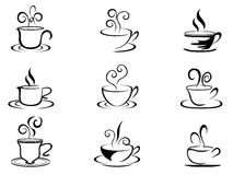 Coffee cup shapes Royalty Free Stock Images