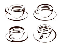Coffee cup shapes Royalty Free Stock Image