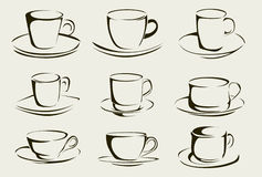 Coffee cup shapes Royalty Free Stock Photos