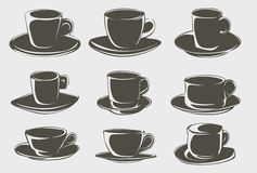 Coffee cup shapes Stock Images