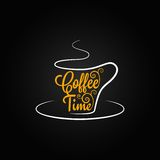 Coffee cup sign design background Royalty Free Stock Photos