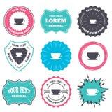 Coffee cup sign icon. Coffee button. Stock Photos