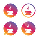 Coffee cup sign icon. Hot coffee button. Royalty Free Stock Photography