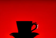 Coffee cup silhouette Stock Images