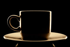Coffee cup silhouette Royalty Free Stock Photo