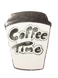 Coffee cup. Sketch coffee cup for coffee time Royalty Free Stock Images