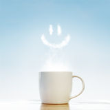 Coffee cup with smile symbol Royalty Free Stock Images