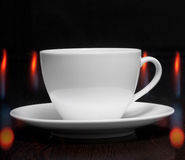 Coffee cup with smoke Stock Image