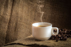 Coffee cup with smoke Stock Images