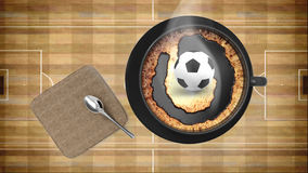 Coffee cup with soccer Stock Photos