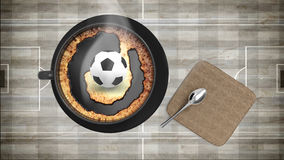 Coffee cup with soccer Royalty Free Stock Photo