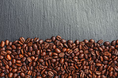 Coffee cup, spices and chocolate on wooden table texture with co. Py space Royalty Free Stock Images