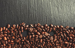 Coffee cup, spices and chocolate on wooden table texture with co. Py space royalty free stock image