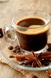 Coffee cup with spices taste and aroma Royalty Free Stock Photography