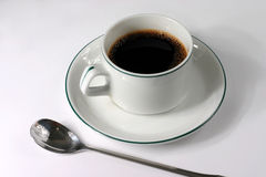 Coffee cup with spoon Royalty Free Stock Photos