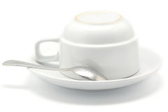 Coffee cup and spoon Royalty Free Stock Images