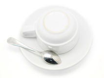 Coffee cup and spoon Royalty Free Stock Image