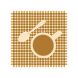 Coffee cup spoon icon Royalty Free Stock Images