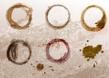 Coffee cup stain Royalty Free Stock Photos